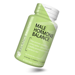 Male Hormone Balance | Saw Palmetto | bottle image front view tilted right