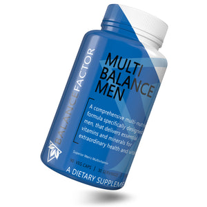 Multi Balance Men | Multivitamin | bottle image front view tilted right