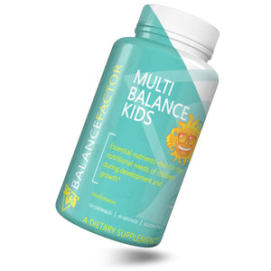 Multi Balance Kids | Multivitamins | bottle image front view tilted right