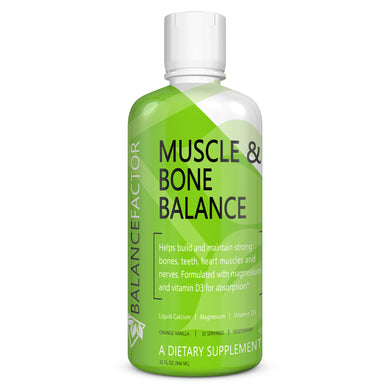Muscle and Bone Balance | Calcium & Magnesium | bottle image front view
