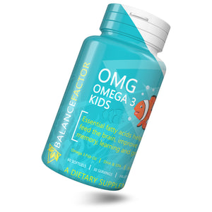 OMG Omega 3 | Fish Oil |  bottle image front view tilted right