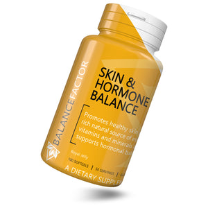 Skin & Hormone Balance | Royal Jelly | bottle image front view tilted right