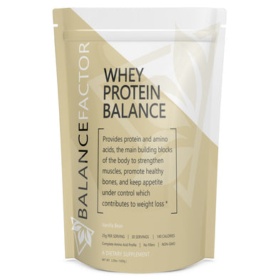 Whey Protein Balance Vanilla Bean bottle image front view