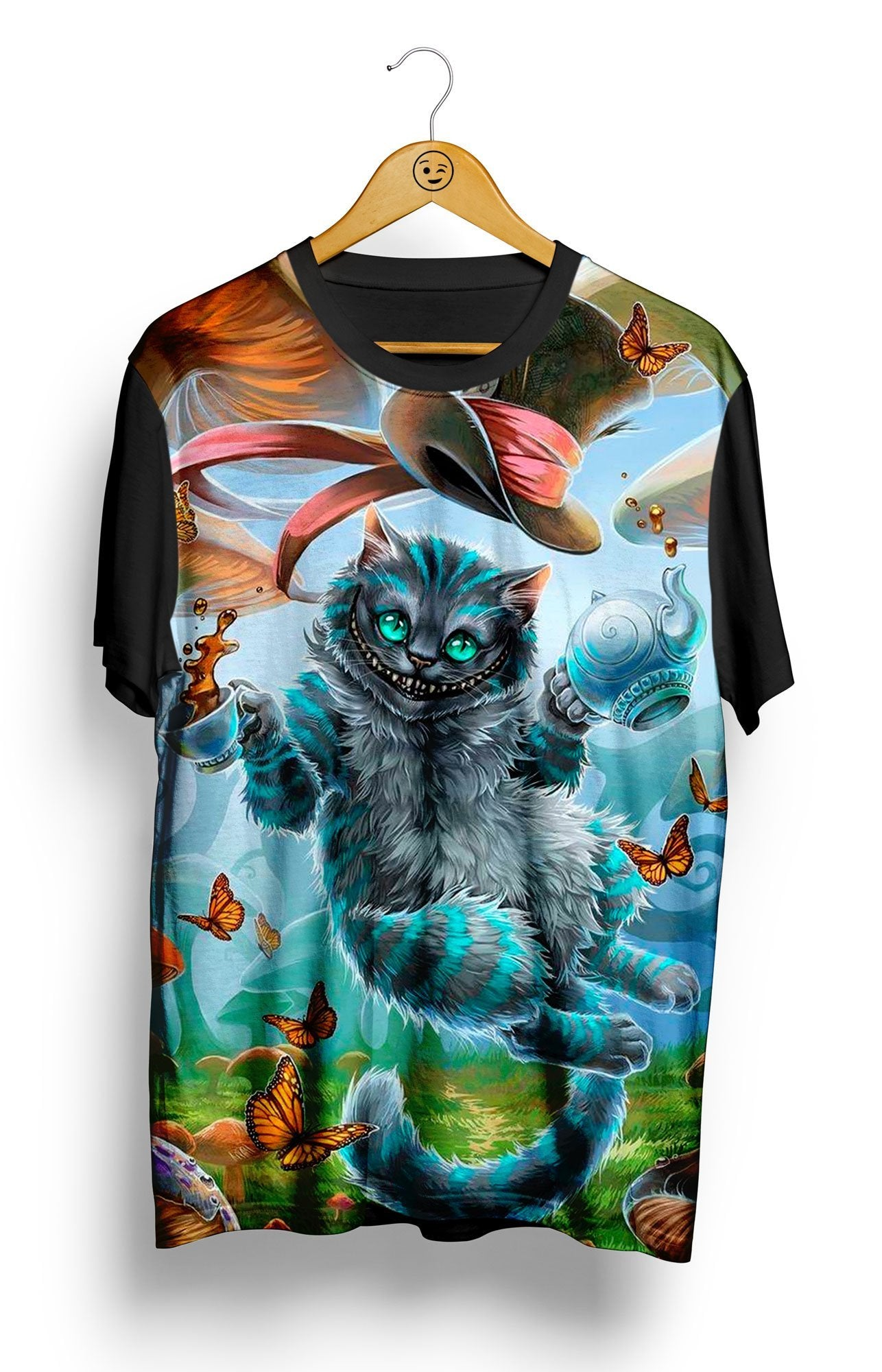 Camiseta Cat in Wonderland - Locamisetas