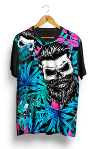 Camiseta Skull Bearded Tropical - Locamisetas