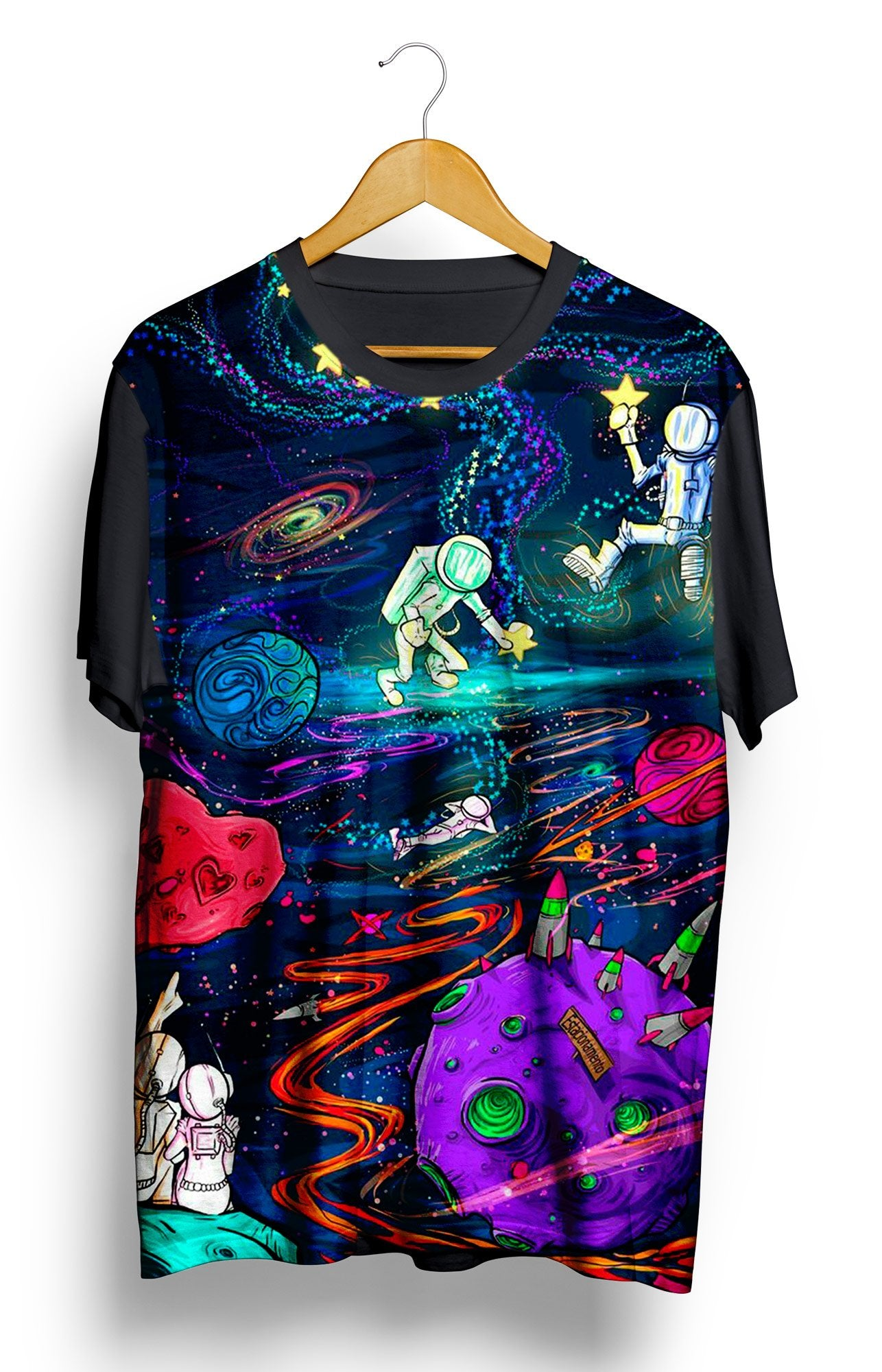 Camiseta Astronaut in the Psychedelic Space - Locamisetas