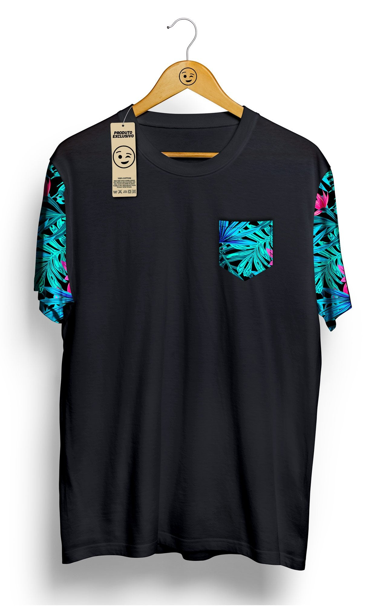 Camiseta Tropical com Bolso - Locamisetas