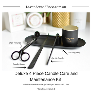 New Deluxe 4 Piece Candle Care Kits from Lavender and Rose