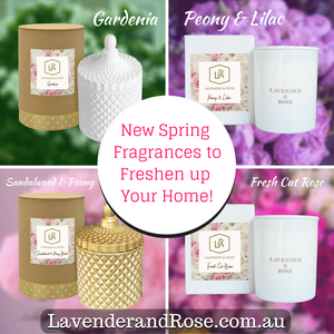 Welcome Spring in with New Australian Floral or Citrus Blended Scented Candle Fragrances