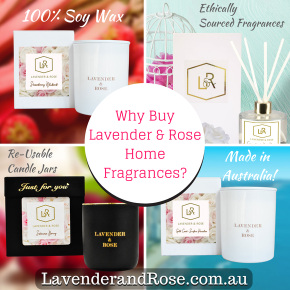 What makes Lavender & Rose Candles / Home Fragrances Special? Quality of Ingredients & Attention to Detail