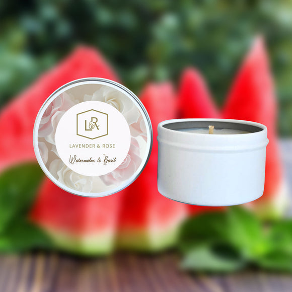 Watermelon & Basil Candle Tin