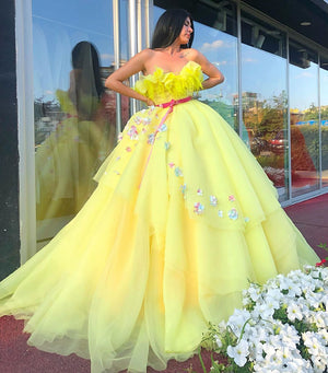 Organza Yellow Floral