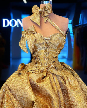 Gold Corset Gown