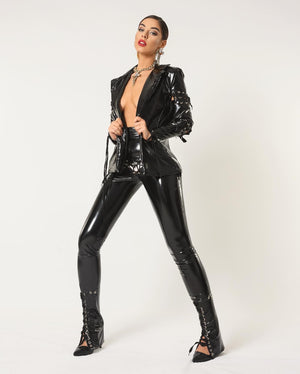 Black Latex Jacket & Pants