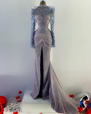 Hand Made Lace Glitter Gown