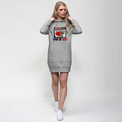 Heart Bigger Premium Adult Hoodie Dress