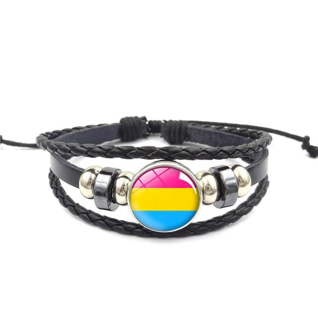 Lgbt Bracelet Pansexual | The Rainbow's Brand