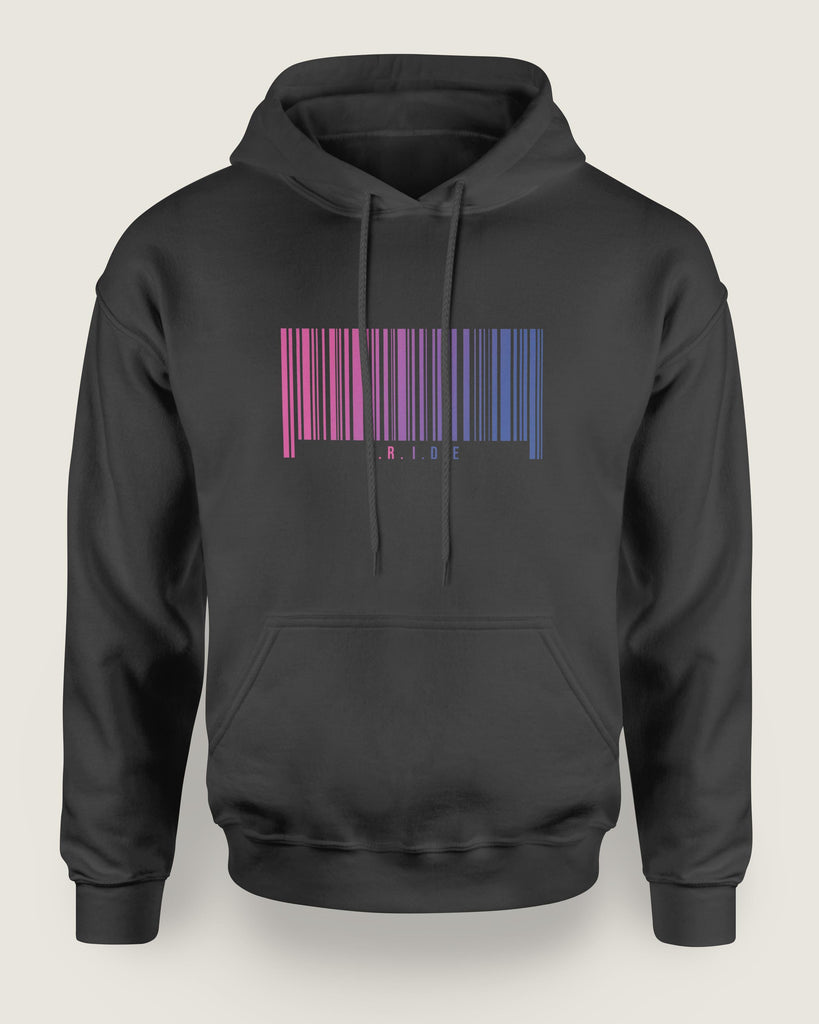 Barcode Bisexual Hoodie | The Rainbow's Brand