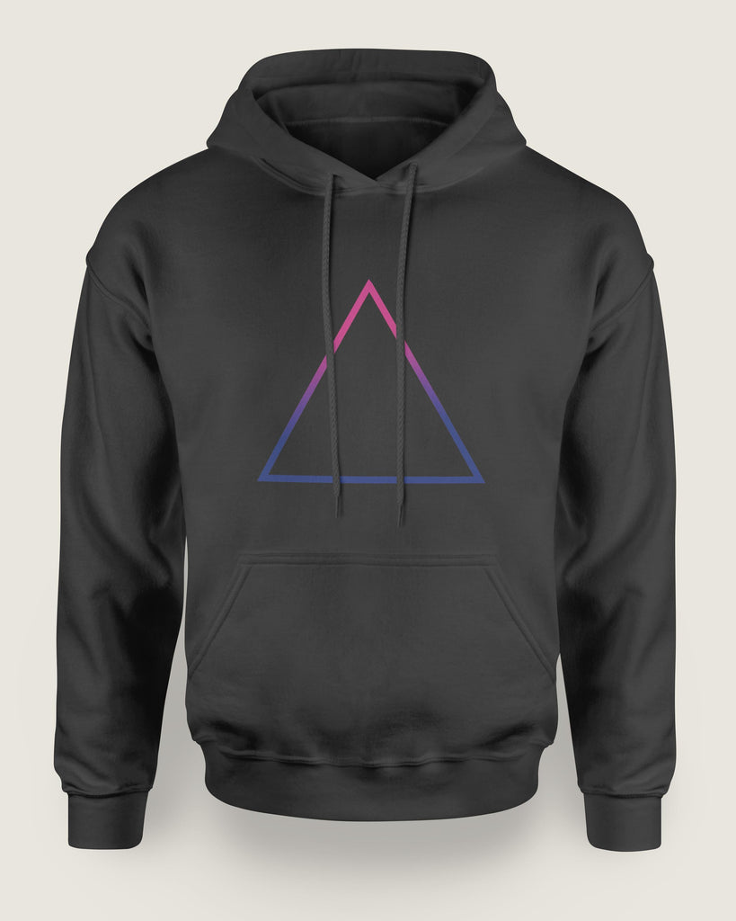 Bisexual Triangle Hoodie | The Rainbow's Brand
