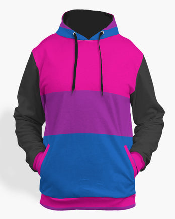 bisexual pride flag hoodie-The Rainbow's Brand