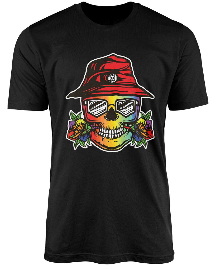 Colored skull LGBT shirt by The Rainbow's brand - Best Rainbow colors shirt