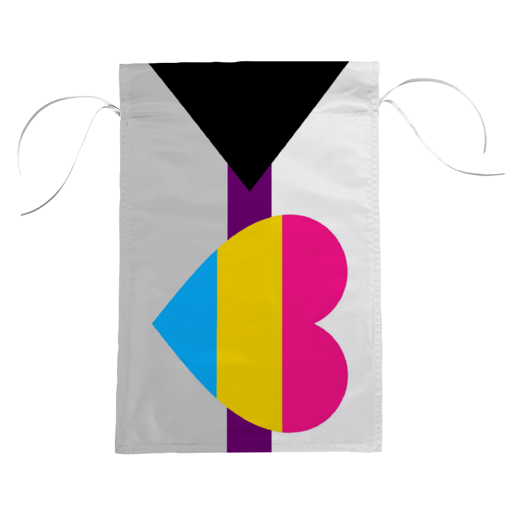 Demisexual Panromantic Pride Flag - Heart | The Rainbow's Brand