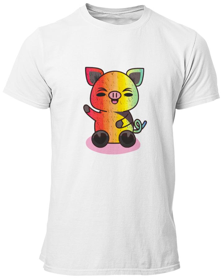 Gay Pig Tee Shirt | The Rainbow's Brand