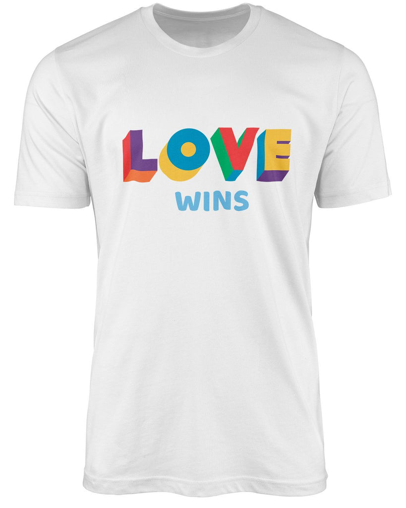 Love wins LGBT shirt by The Rainbow's brand - Best Rainbow colors shirt