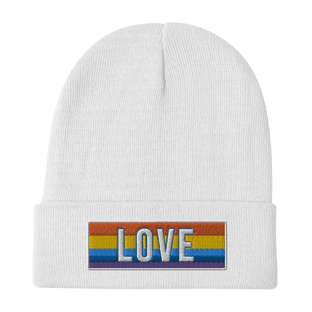 lgbt Embroidered Beanie