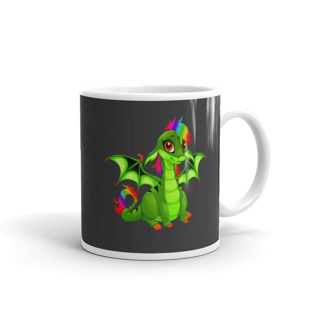 gay pride dragon mug