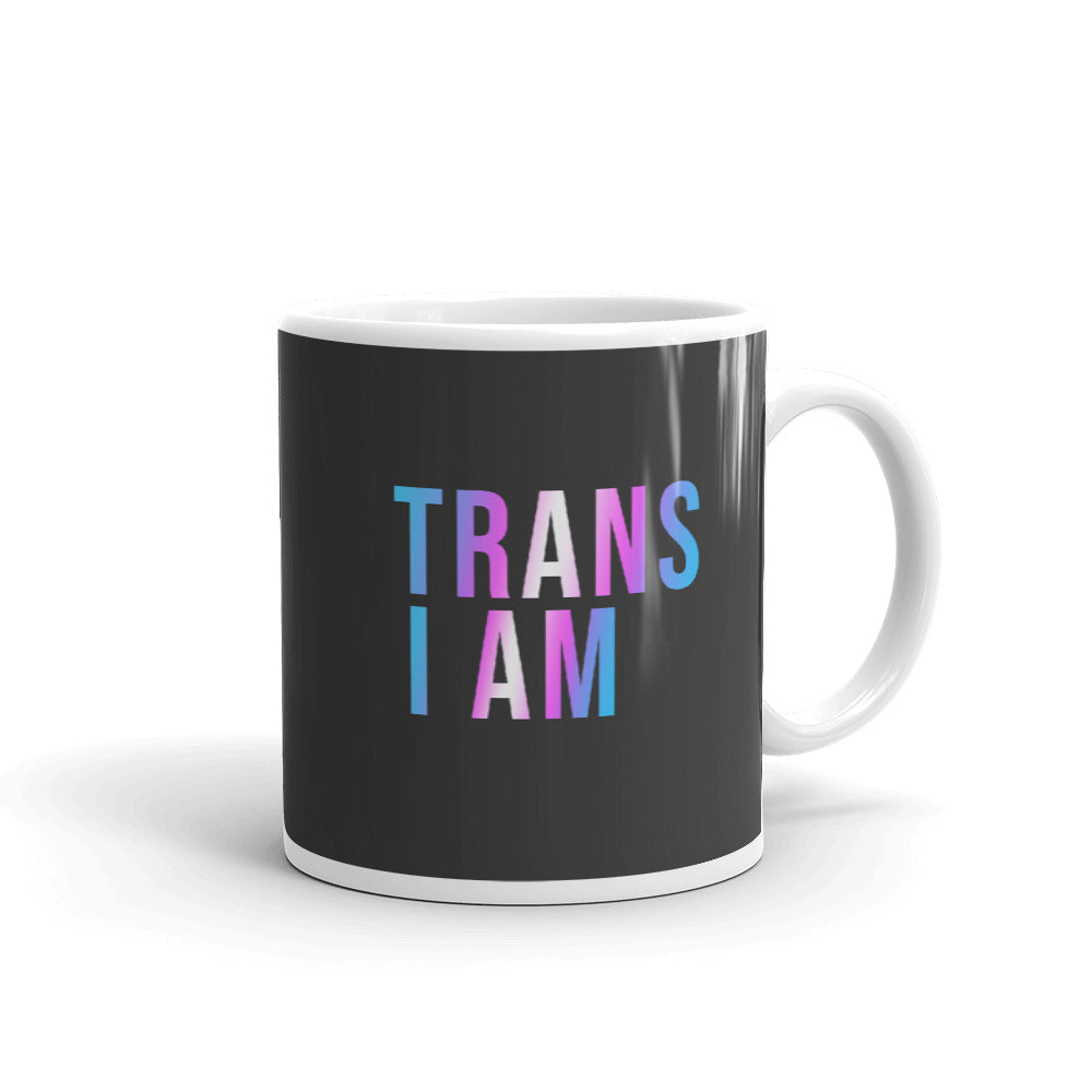trans i am coffee mug