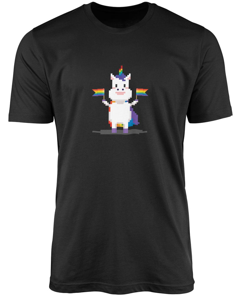 Pixel unicorn LGBT shirt by The Rainbow's brand - Best Rainbow colors shirt