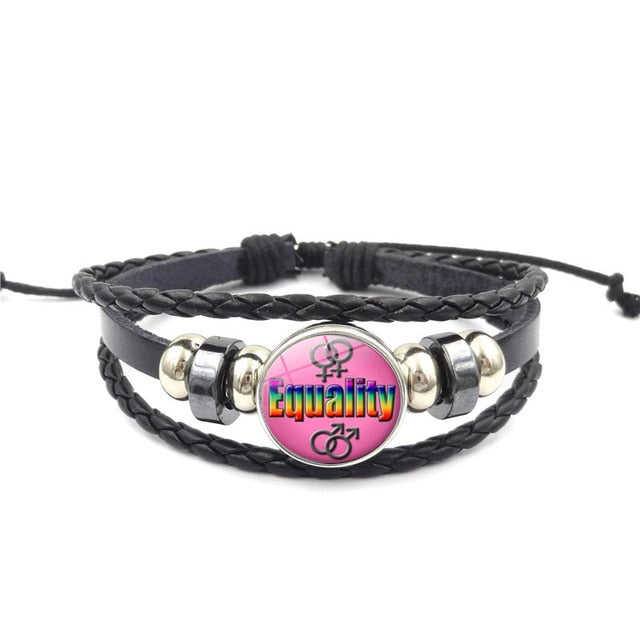 Lgbt Bracelet Love Equality | The Rainbow's Brand