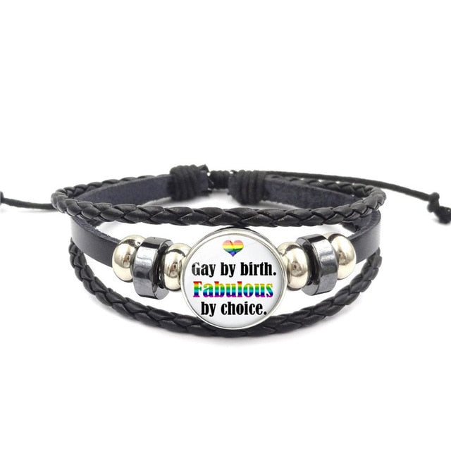 Lgbt Bracelet Fabulous | The Rainbow's Brand