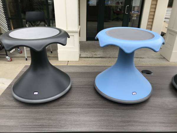 "Hokki Stools 12"" - Blue & Black - Flexible Seating - Brand New - Joe's Discount Office Furniture"