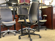 Steelcase Amia - Tan with Pattern Seat - Fully Featured - Brand New