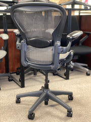Herman Miller Aeron - Lead on Black - Fully Loaded - High Performance Cylinder - Certified Pre-Owned - Perfect Condition! - Size: B