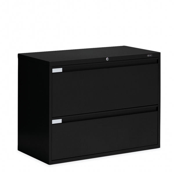 "Global 2 Drawer Lateral File Cabinet - 36""W (9336P-2F1H) - Joe's Discount Office Furniture"