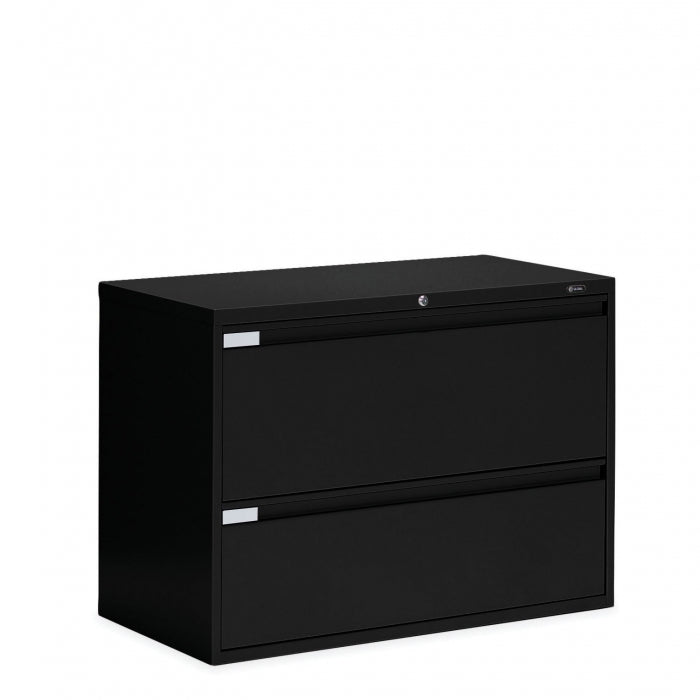 "Global 2 Drawer Lateral File Cabinet - 42""W (9342P-2F1H) - Joe's Discount Office Furniture"
