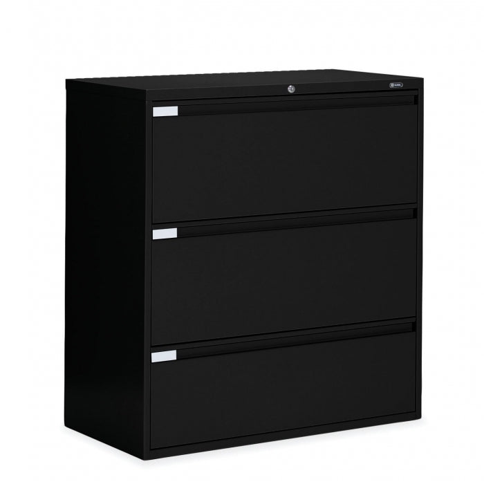 "Global 3 Drawer Lateral File Cabinet - 42""W (9342P-3F1H) - Joe's Discount Office Furniture"