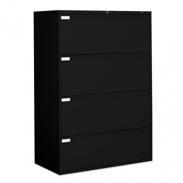"Global 4 Drawer Lateral File Cabinet - 42""W (9342P-4F1H) - Joe's Discount Office Furniture"