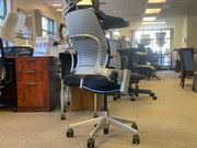 Steelcase Leap Chair V2 - Platinum on Black - Fully Featured - 4D Arms - Brand New Open Box