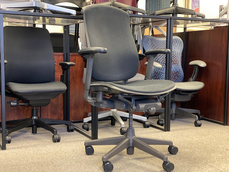 Herman Miller Celle - Black on Black - Fully Featured - Fully Upholstered - Pre-Owned