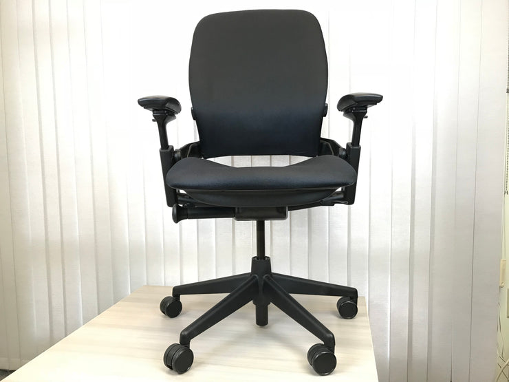 Steelcase Leap Chair V2 - Black on Black - Refurbished - Joe's Discount Office Furniture