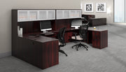 Credenza with Right Corner Extension - SL7136CER-AML - Joe's Discount Office Furniture