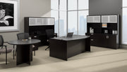 "Bow Front Desk with Left Corner Extension - 71""W - Joe's Discount Office Furniture"