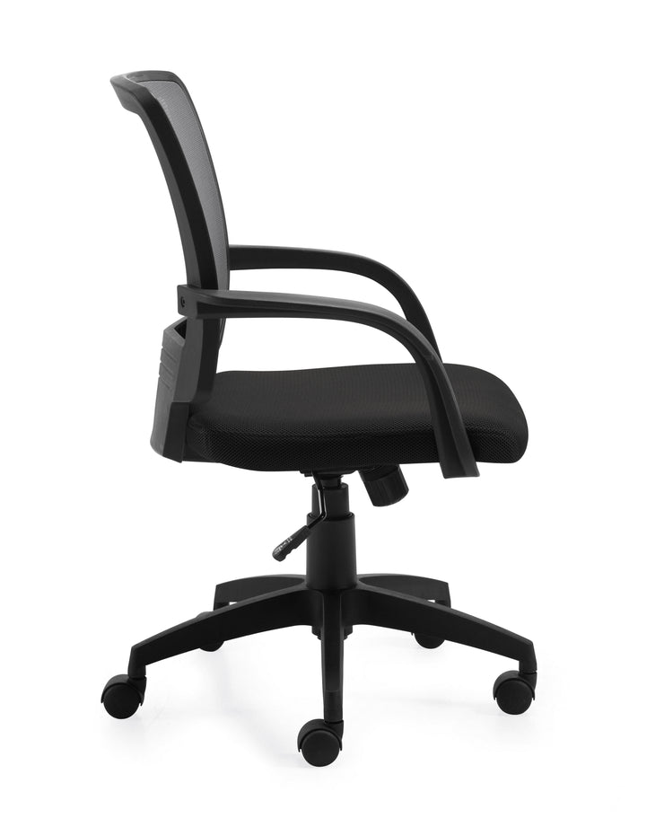 Mesh Back Managers Chair - OTG10900B - Side View - Joe's Discount Office Furniture