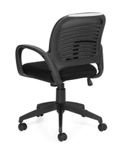 Mesh Back Managers Chair - OTG10901B - Angled Back View - Joe's Discount Office Furniture