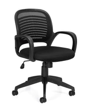 Mesh Back Managers Chair - OTG10901B - Angled View - Joe's Discount Office Furniture