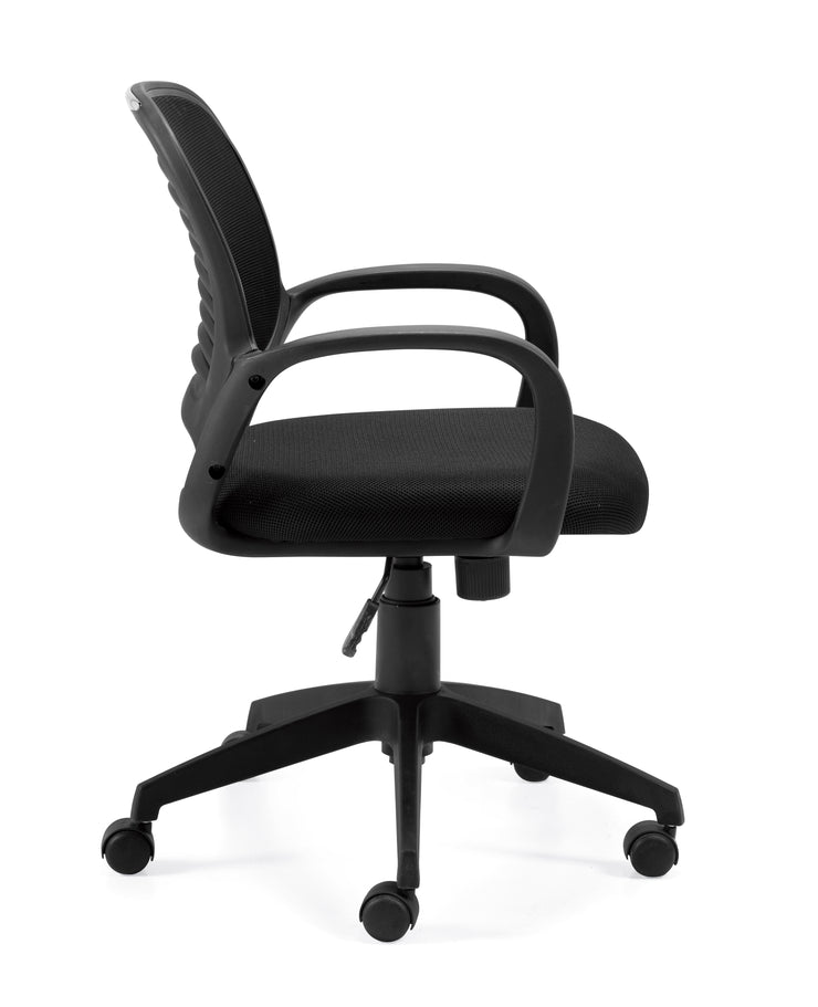 Mesh Back Managers Chair - OTG10901B - Side View - Joe's Discount Office Furniture